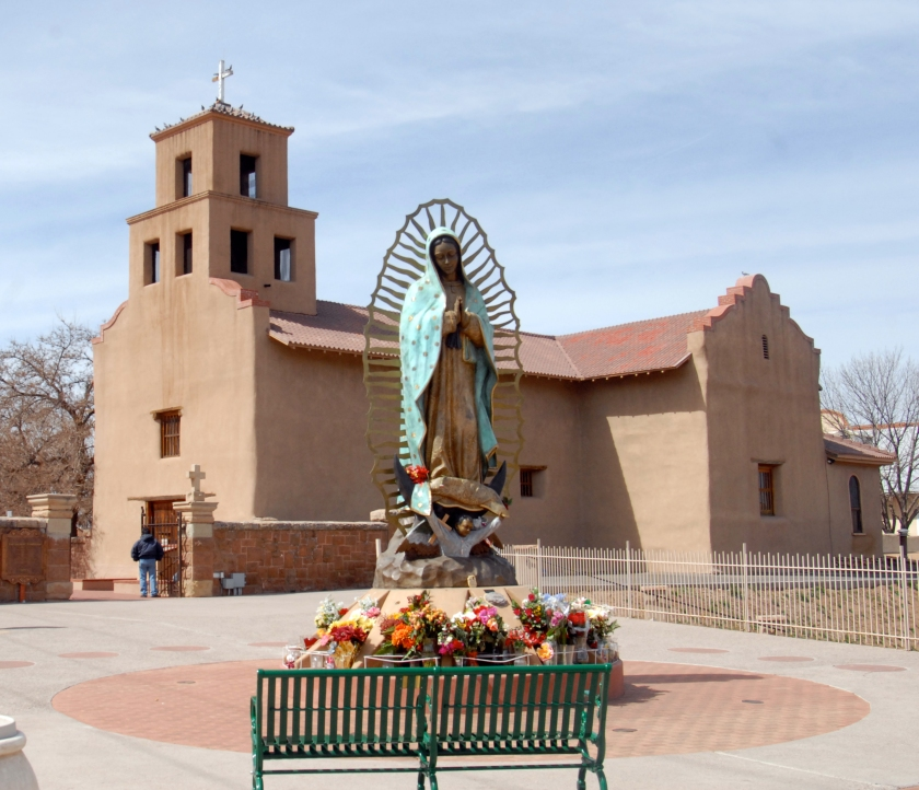 New Mexico - Santa Fe church by Glenn A. Baker