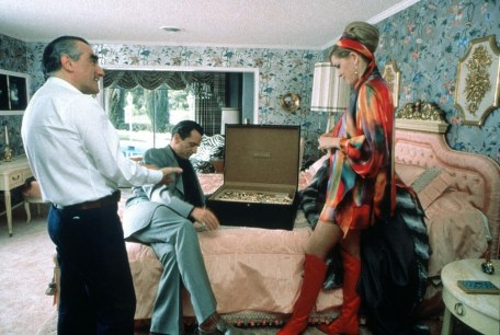 Martin Scorsese, Robert De Niro and Sharon Stone on the set of Casino