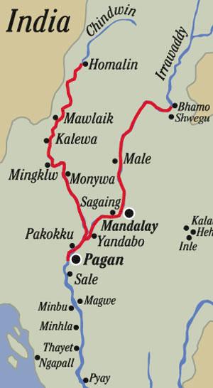 Chindwin-Irrawaddy Map