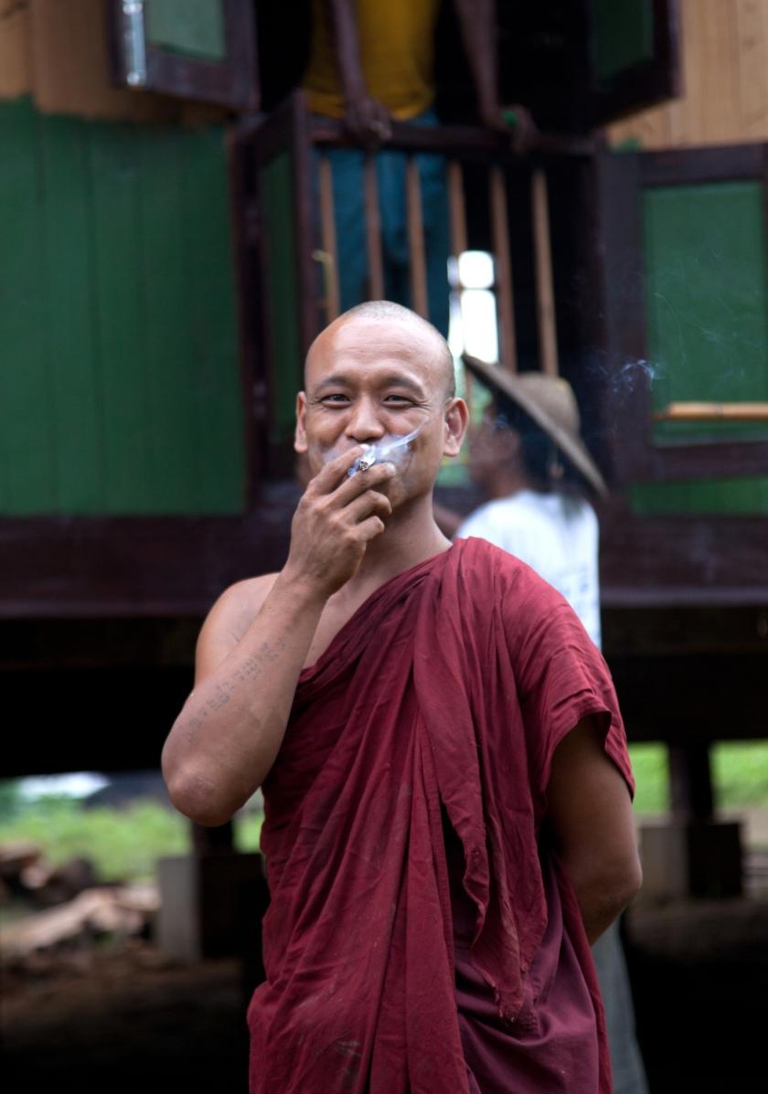Smokin' Chindwin monk